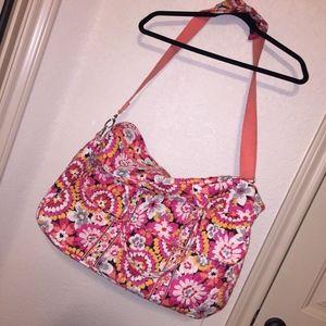 Vera Bradley Large Weekend Pink Floral Duffel Bag
